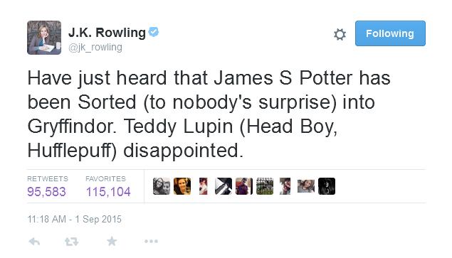 jk rowling dumbledore gay tweet